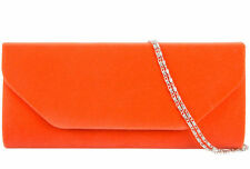 New Ladies Suede velvet Clutch Bag Handbag Bridal Evening Prom party Christmas