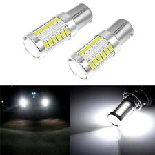 2x 12V BA15S P21W 1156 LED Car Backup Reverse Light White Bulb 33-SMD 5730 5630