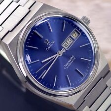 VINTAGE MEN'S OMEGA SEAMASTER AUTOMATIC DAY & DATE ANALOG DRESS WATCH ST. STEEL