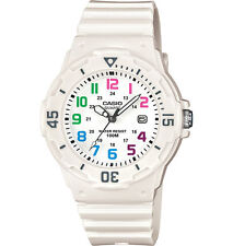 Casio LRW200H-7BV, Women's Analog White Resin Band, Multi-Color Face, Date