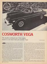 1976 Chevy Cosworth Vega Coupe Road Test & Technical Data Article