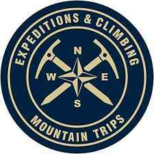 "Expedition Climbing Mountain Camping Car Bumper Window Sticker Decal 4.5""X4.5"""