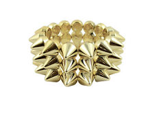 METALLIC GOLD CYBER SPIKE BRACELET SPIKED STUDDED ROCK GOTH PUNK EMO CANDY RAVE