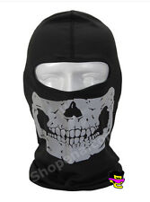 Grey Skull Balaclava Biker Full Face Mask Ski Snowmobile Motorcycle Neck Hood +