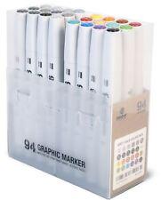 MTN 94-Dibujo Gráfico Tinta Rotulador Pen Set - 24 juego principal un colores básicos/Gris