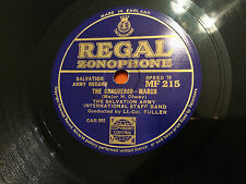 """SALVATION ARMY STAFF BAND """"The Conqueror""""/""""The Maple Leaf"""" 78rpm 10"""" 1930 NM+"""
