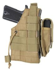 Coyote Brown MOLLE Modular Ambidextrous Tactical Holster W/ Mag Pouch 10479