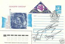 GENNADI STREKALOV VITALY SEVASTYANOV VLADIMIR TITOV SIGNED COSMONAUT POST COVER