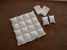 Dollhouse Miniature Comforter Set With Pillows / Matching Pillowcases 1:12 Scale