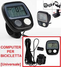 Ciclo-Computer bicicletta.Contachilometri tachimetro bici sport ciclismo Km/h