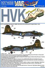 Kits World Decals 1/32 BOEING B-17G FLYING FORTRESS Two Beauts