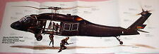 HUGE! UH-60 BLACK HAWK HELICOPTER POSTER picture print down