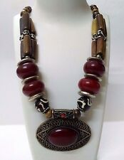 Necklace Big Pendant Jewelry Ethnic Gypsy Tribal Boho Chic Fusion India EA317