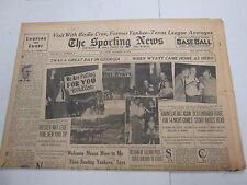 The Sporting News Newspaper  Birdie Cree  October 23, 1941    101014lm-eB2