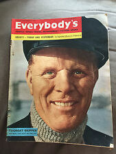 HUGE 7 DEC 1957 EVERYBODY'S MAGAZINE - TUGMASTERS ON THE THAMES