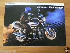 S195 SUZUKI BROCHURE PROSPEKT GSX`1400 ENGLISH 6 PAGES MOTORCYCLE