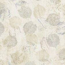 Loose Leaf Leaves Wallpaper ZN12747 Beige Cream DOUBLE ROLL  FREE SHIPPING