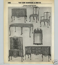 1939 40 PAPER AD 2 Pg Tankerville Chippendale Wood Wooden Dining Room Suite Set