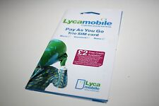 Lycamobile (UK) Dual SIM Card w/ £10- O2 towers (prepaid service while visiting)