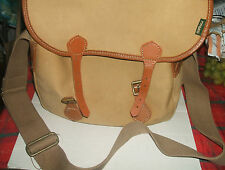 BARBOUR FLY/TACKLE FISHING BAG - CANVAS & LEATHER - Made by LIDDESDALE