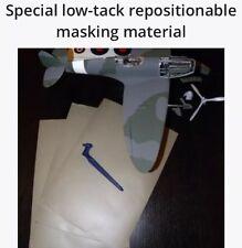 3x feuilles de masquage matériel modèle peinture aérographe gyro cut tamiya rc avion