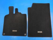 Smart Car Fortwo Passion Pure (2008-2015) OEM Front Carpet Floor Mats (Black)