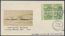 """#728 """"AGRICULTURE BUILDING"""" ON BEAZELL FDC CACHET CV $375.00 BR1848"""
