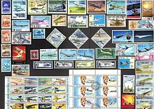 200 All Different AIR PLANES / AVIATION ON   STAMPS