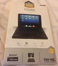 New Zagg ZAGGKeys Apple iPad Mini 1 2 3 Bluetooth Keyboard Cover Case Black