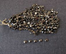 240 ANTIQUE EDWARDIAN SILVERED CZECH GLASS FACETED BEADS SEWING JEWELRY MAKING 2
