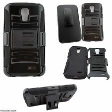 Quick-Reach Belt Clip Holster Phone Case For LG F70 Access Black Cover