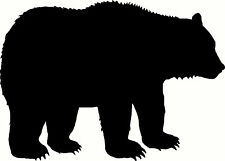 Bear Sticker Grizzly Black Outdoors Wild Car Window Laptop Vinyl Decal Cool Gift