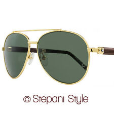 Montblanc Aviator Sunglasses MB518S 30N Gold/Venghe Wood 518