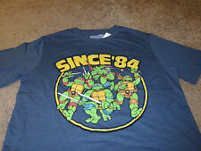 Teenage Mutant Ninja Turtles Mens TMNT Vintage 1984 Blue T-Shirt  Size 2XL