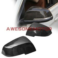 Carbon Fiber Side Rear View Mirror Covers For 12-15 BMW F30 3Series 328i 335i AM