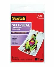 "3m Scotch Self-sealing Laminating Pouches - 4"" Width X 6"" Length - Type G -"