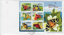 Alderney 2012 FDC Tiger Moths & Ermines 6v M/S Cover Tiger Moth Insects Stamps