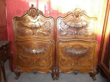 BEAUTIFUL CARVED ITALIAN VICTORIAN WALNUT BEDROOM SET BEDS - 13IT087D