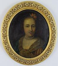 OLD MASTER 18th CENTURY Oil Painting On Canvas FEMALE PORTRAIT