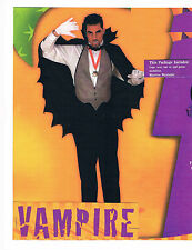 VAMPIRE SIZE ADULT HALLOWEEN COSTUME SCARY BLOODY DRACULA MONSTER
