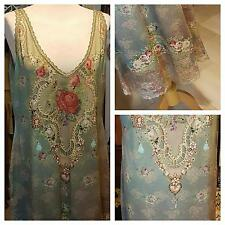 Michal Negrin Long Top /Dress /Tunic  Fully Decorated with Crystals -Sz.XXL