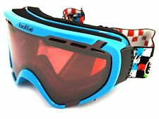 Bolle OTG Small Fit EXPLORER Ski Snow Goggles Blue Checker / Vermillon Gun 21354