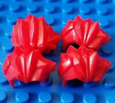 LEGO Accesories Minifigure Hair Bright Red Spike Spiky Wig lot headgear