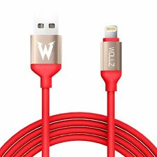 2 Lightning Cable 3.3ft 1M Heavy Duty USB Cord Apple iPhone 7 6 5 Red