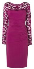 Phase Eight / 8 Rhona Lace dress in cassis pink Size 12