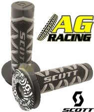 Scott Diamond Grey Black Grips Donuts Medium Soft Waffle Motocross Enduro Bikes