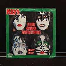 "KISS - Sure Know Something on Casablanca Records ‎– BF 18684 7"" 45rpm German Imp"