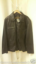 GENTS HARRINGTON ZIP POCKET 100% GENUINE LEATHER JACKET MEN'S SIZE 3XL BNWT
