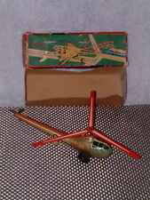 """ALPS VINTAGE, TIN, FRICTION POWERED SPARKING """"COPTER  W/ORIGINAL BOX!! WORKING!!"""