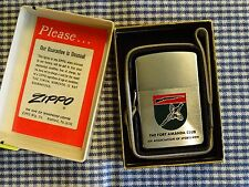 ZIPPO THE FORT AMANDA CLUB LANYARD/LOSSPROOF LIGHTER 1969